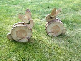 Pinterest Wooden Easter Decorations by Bunny U0027s Made From Log Trimmings Creative Ideas Pinterest