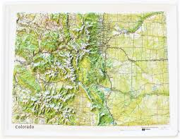 Colorado Maps by Buy Colorado Relief Map Flagline