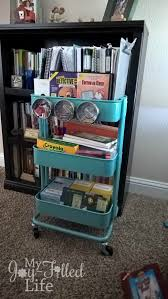 Organization In The Kitchen - 25 ideas for homeschool organization in a small space proverbial