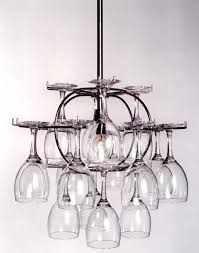 Wine Glass Chandelier Diy Wine Glass Storage That Doubles As A Chandelier Sweet Get Your