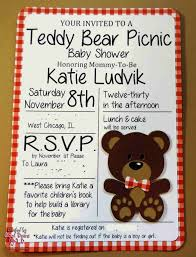 teddy bear baby shower invitations cool beans by l b teddy bear picnic shower invites