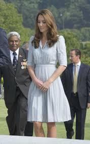 duchess kate duck egg blue pleated dress by jenny packham