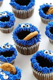 cookie monster birthday cake with cookie dough filling chocolate