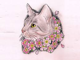 beautiful cat face drawing bing images art cats pinterest