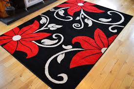Extra Large Red Rug New Black Red Cream Flowers Small Medium Extra Large Rugs Living