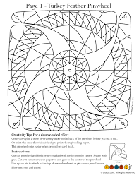 turkey tail feather pinwheel for coloring woo jr kids activities