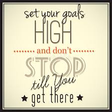Goals Meme - set your goals high and don t stop till you get there stock vector