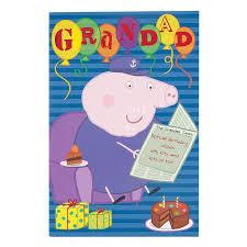 peppa pig u0027happy birthday grandad u0027 card amazon co uk office