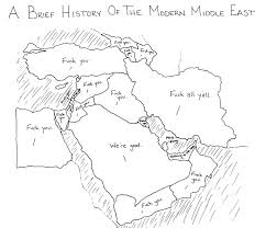 A Map Of The Middle East by Modern Middle East Map Questionable Skills