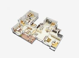 4 Bedroom Apartment by 4 Bedroom Apartment House Plans 48 3d Home Design Home Layout