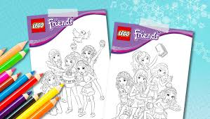 download lego friends coloring sheets downloads activities