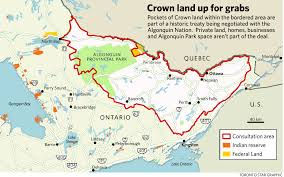 Algonquin Map Historic Algonquin Claim Of Ottawa Area Nearly Done Toronto Star