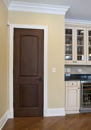 amazing kitchen design using brown solid wood interior doors 2