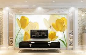 discount paper tulips 2017 paper tulips on sale at dhgate com retro yellow tulip butterfly tv wall mural 3d wallpaper 3d wall papers for tv backdrop paper tulips promotion