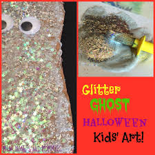 mini monets and mommies glitter ghost halloween puppet