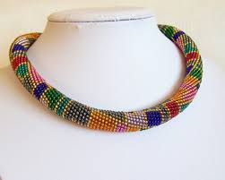 beaded necklace rope images Handmade beaded necklace designs thecolorbars jpg