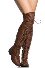 s boots knee high brown brown faux leather thigh high combat boots cicihot boots catalog