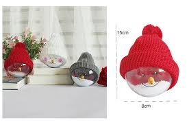 transparent cartoon christmas ball with hat christmas tree