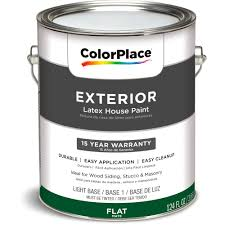 colorplace exterior flat light base paint 1 gal walmart com