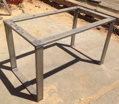 Dining Room Table Bases Metal by Metal Table Base Rolled Steel 3x1 Tubing Metal Tables