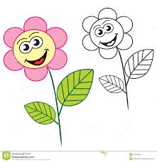 sun happyflowers coloring pages happy flower cartoon character