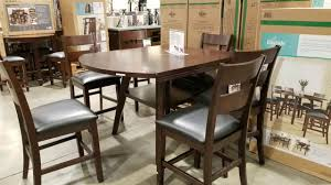 costco dining room furniture costco bayside counter height table round square with 6 chairs