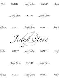 custom wedding black and white step and repeat backdrop color font
