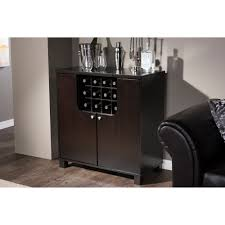 Dry Bar Furniture Ideas by Dark Brown Wood Modern Dry Bar Comes With Laminate Plywood
