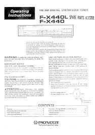 pioneer fx440 owner u0027s manual immediate download
