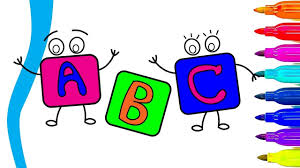 how to draw and color alphabet letters abc song learn abc