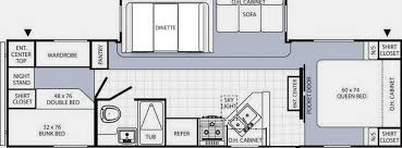 3 bedroom travel trailer floor plan