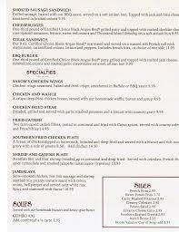 menu at sarom u0027s southern kitchen 1901 el camino ave restaurant