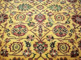 rugsville tribal gold burgundy wool 10831 9x12 rug rugsville