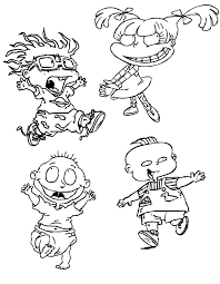 characters in rugrats coloring pages cartoon coloring pages of