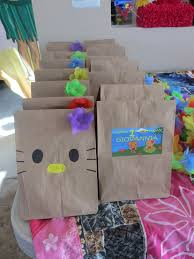 hello gift bags hawaiian hello luau treat bags diy giovannia s 1st