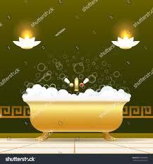 Yellow Bathtub Golden Bathtub Vector Illustration Bath Tub Stock Vector 730566898