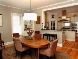 small open plan kitchen dining living