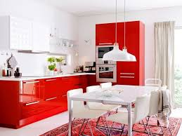 Red Kitchen Set - kitchen wonderful shiny red l shape wooden base cabinet