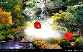 3d autumn waterfall wallpaper android apps on google play