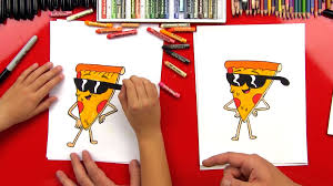 how to draw pizza steve art for kids hub