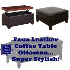 faux leather coffee table 5 faux leather coffee table ottoman combo s for your stylish home