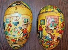 vintage paper mache easter eggs vintage german paper mache easter egg candy container 110 00
