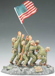 World War 2 Us Flag King Country Iwo Jima Iwj006 U S Marines Raising The Flag Exib