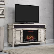 pair of triple shelf for display storage and brown fireplace