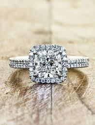 custom engagement rings images Caroline double band halo diamond engagement ring ken dana jpg