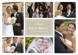 faire part de remerciement mariage carte remerciement mariage personnalisées avec photo
