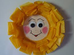 paper plate sunflower fridge magnet allfreekidscrafts com