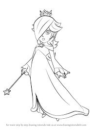 learn draw rosalina super mario super mario step