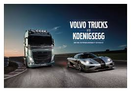 extreme gentleman koenigsegg teaser volvo trucks challenges one of the world u0027s fastest sports