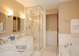 shower design with bench and pebble floors walk in shower